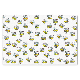 cute cartoon bees pattern tissue paper