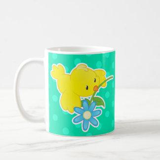 Cute cartoon bird mug