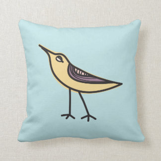 Cute cartoon bird - Throw Pillow