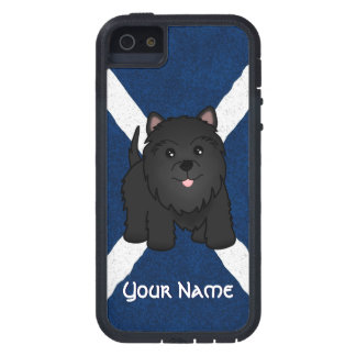 Cute Cartoon Black Scottish Terrier Puppy Dog Case For The iPhone 5