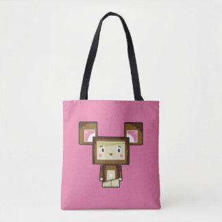 Cute Cartoon Blockimals Bear Tote Bag
