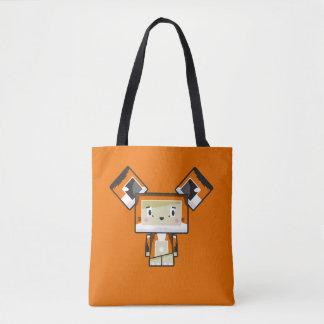 Cute Cartoon Blockimals Fox Tote Bag