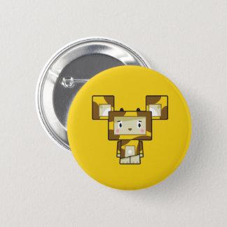 Cute Cartoon Blockimals Giraffe Button Badge