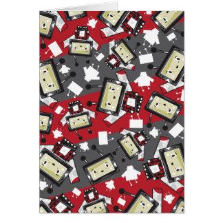 Cute Cartoon Blockimals Ladybird Greeting Card