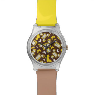 Cute Cartoon Blockimals Lion Watch