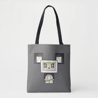 Cute Cartoon Blockimals Panda Bear Tote Bag