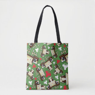 Cute Cartoon Blockimals Reindeer Tote Bag