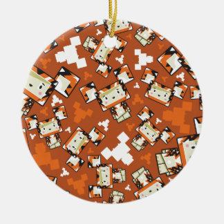Cute Cartoon Blockimals Tiger Ceramic Ornament