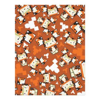 Cute Cartoon Blockimals Tiger Letterhead