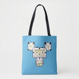 Cute Cartoon Blockimals Zebra Tote Bag