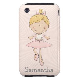 Cute Cartoon Blonde Ballerina iPhone 3 Tough Case