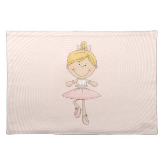 Cute Cartoon Blonde Ballerina Placemat