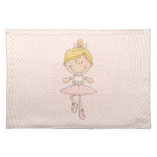 Cute Cartoon Blonde Ballerina Placemats