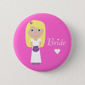 Cute Cartoon Bride 2 Inch Round Button