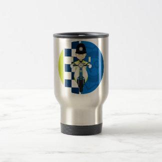 Cute Cartoon British Policeman Travel Mug