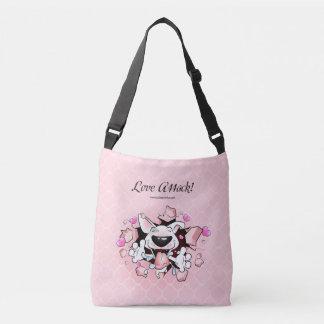 "Cute cartoon Bull Terrier bag ""Love attack"""