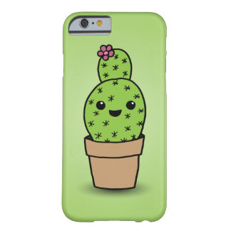 Cute cartoon cacti barely there iPhone 6 case