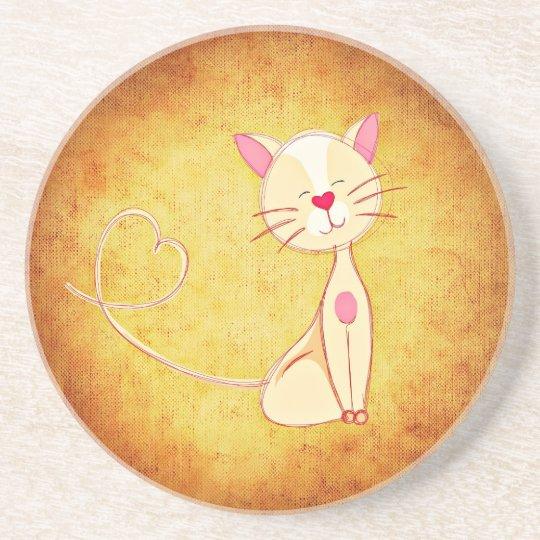 Cute Cartoon Cat Coaster