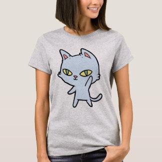 Cute cartoon cat T-shirt (grey)