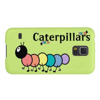 Cute Cartoon Caterpillars Grass Green Background Case For Galaxy S5