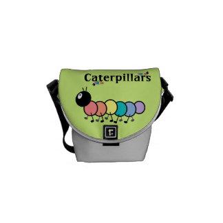 Cute Cartoon Caterpillars Grass Green Background Courier Bags
