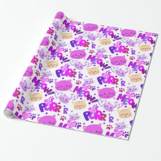 Cute Cartoon Cats Pattern Wrapping Paper