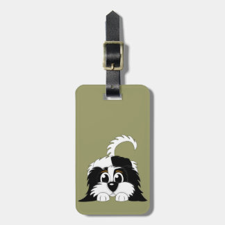 Cute Cartoon Cavachon Luggage Tag