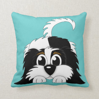 Cute Cartoon Cavachon Throw Pillow