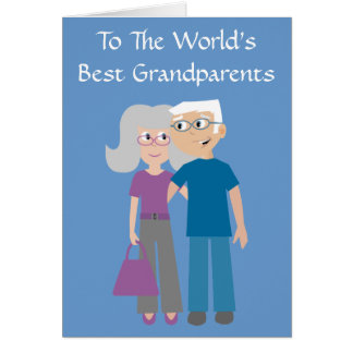 Cute Cartoon Characters Grandparents Day Card