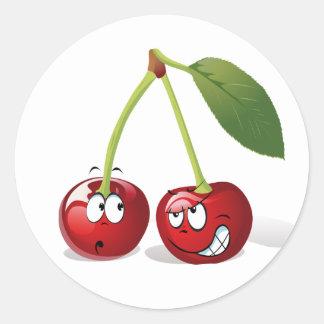 Cute Cartoon Cherry Fruit Sticker