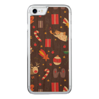 Cute cartoon Christmas bundle - Xmas gifts Carved iPhone 8/7 Case