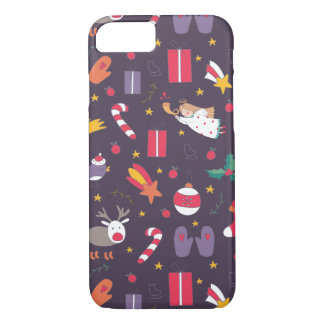 Cute cartoon Christmas bundle - Xmas gifts iPhone 8/7 Case