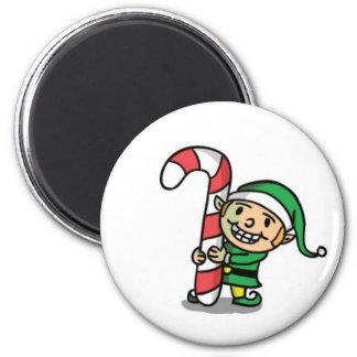Cute Cartoon Christmas Elf Magnet