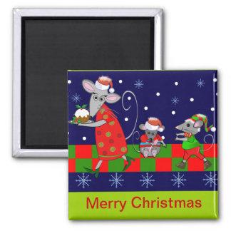 Cute Cartoon Christmas Magnet with Mice