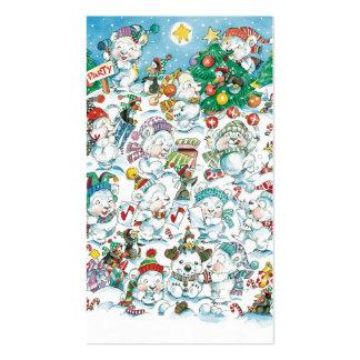 Cute Cartoon Christmas Polar Bear Penguin Party Pack Of Standard Business Cards