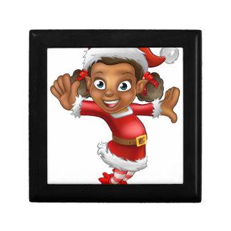 Cute Cartoon Christmas Santa Helper Elf Gift Box