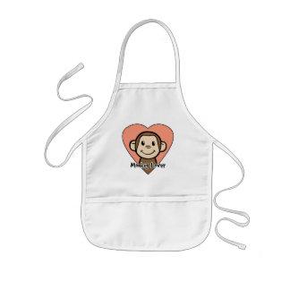 Cute Cartoon Clip Art Smile Monkey Love in Heart Kids Apron