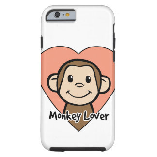 Cute Cartoon Clip Art Smile Monkey Love in Heart Tough iPhone 6 Case