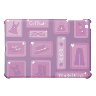 Cute Cartoon Clothes Purple Lilac & Pink Cover For The iPad Mini