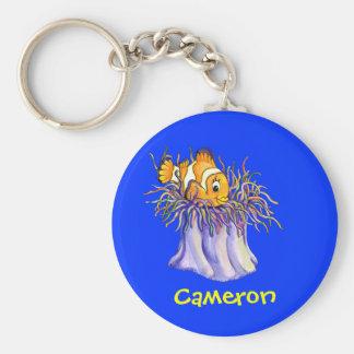 Cute Cartoon Clown Fish Keychain