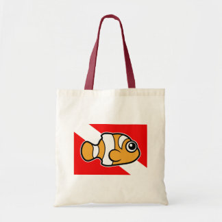 Cute Cartoon Clownfish Dive Flag