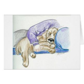 Cute Cartoon Cocker Spaniel Dog Card