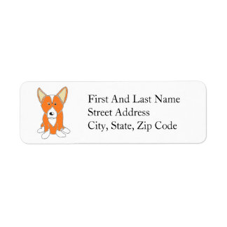 Cute Cartoon Corgi Return Address Label