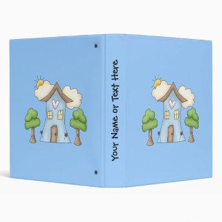 Cute Cartoon Country House Tree Scene Binder