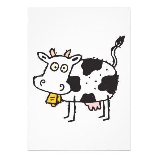 cute cartoon cow custom announcements
