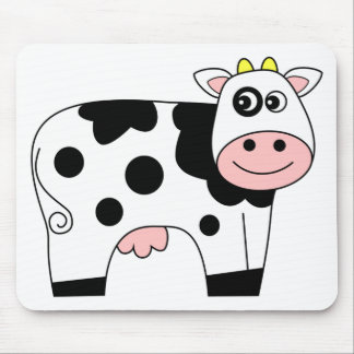 Cute Cartoon Cow Mouse Pad