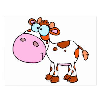 Cute Cartoon Cow Post Cards