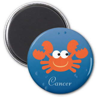 Cute Cartoon Crab Cancer Zodiac Sign Custom 2 Inch Round Magnet