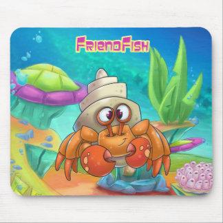 Cute cartoon crab mouse pad