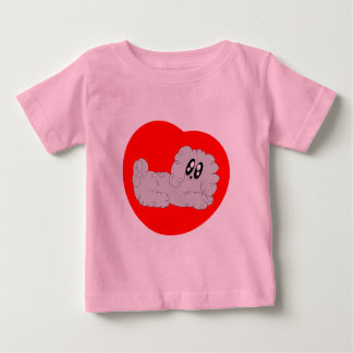 Cute Cartoon Curly Poodle Puppy Dog Baby T-Shirt